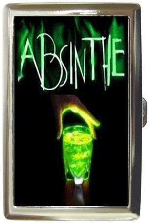 Absinthe drink cigarette money caselg