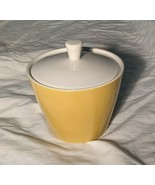 "Vintage Mikasa Cera Stone Lidded Sugar Bowl in Brown/Mustard, Japan, 4.5"" - $12.08"