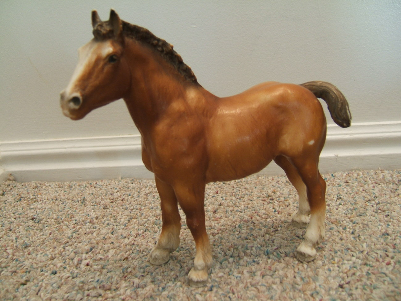 VINTAGE BREYER TRADITIONAL DRAFT CLYDESDALE FOAL HORSE