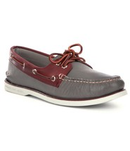 Men's Sperry Top-Sider GOLD CUP A/O 2-Eye Boat Shoe, STS11544 Size 8 Gre... - $104.96