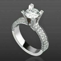 2.65Ct Round Cut VVS1 White Diamond Engagement Ring in Solid 14K White Gold - €248,24 EUR
