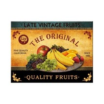 Quality Fruit ad. steel fridge magnet - €25,39 EUR