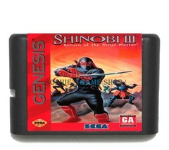 shinobi revenge of the ninja master III game cartridge 16 bit sega md/ge... - $8.29