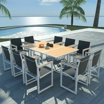 "vidaXL Outdoor Dining Set 11 Pieces WPC 65""x39.4""x28.3"" Patio Garden Fur... - $564.99"