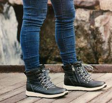 NEW Weatherproof Womens Black Water Repellent Alexa Winter Sneaker Ankle Boots image 4