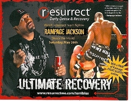 Rampage Jackson's Drink Ad Promo Card - $1.95