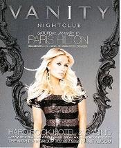 Paris Hilton Celebration Las Vegas Promo Card - $2.95