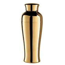 Oggi Tall and Slim Cocktail Shaker in Gold Plat... - $24.99