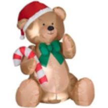 Holiday Accents 4FT High Teddy Bear Christmas Inflatable - $44.99