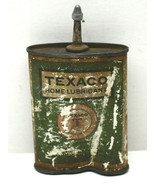 Very Early Texaco Gas Lubricant Oil Metal Can Home or Auto! Vintage Adve... - $37.02