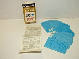 Vintage Russell's Riddles Card Game Plus How To Make Up Riddles 40 Cards... - $20.79
