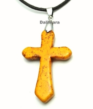 QC22 Quantum Cross Pendant Turquoise 4-Energy Yellow - New - $19.95