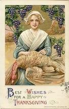Pilgrim Lady Samuel Schmucker 1912 Post Card - $15.00