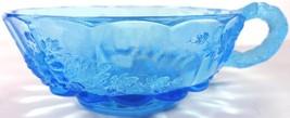 "Westmoreland Glass Brandywine Blue Paneled Grape 5""d One Handled Olive Bowl - $39.99"