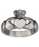 White Gold plated over sterling silver Buffy The Vampire Slayer Claddagh... - $22.76