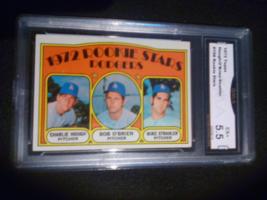 1972 Topps Hough O'Brien Strahler GMA Graded 5.5 EX+ Rookie Baseball card 198 - $7.99