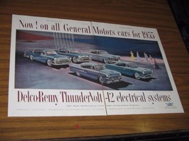 1955 Print Ad '55 GM Cars 5 Models Shown Delco-Remy Electrical Systems - $19.89