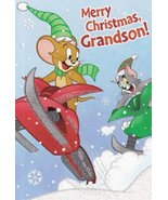 "Greeting Card Christmas Tom and Jerry ""Merry Christmas Grandson!"" - $2.99"