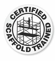 Certified Scaffold Trained Hard Hat Decal Hardhat Sticker Helmet Label H199 - $1.79+