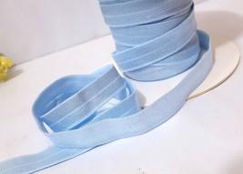"1/2"" / 13mm width- 5yds-10yds Shiny Light Blue Satin Fold over Elastic B... - $5.99+"