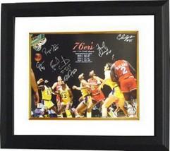 Earl Cureton signed Philadelphia 76ers 16x20 Photo Custom Framed 1983 NB... - £152.04 GBP