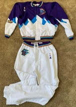 SHANDON ANDERSON 90s NBA FINALS UTAH JAZZ MOUNTAIN GAME USED JACKET PANTS JERSEY - $924.99