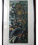 """Tadashi Nakayama . listed artist . Large Woodblock - """"Girl and Sunflower"""" - $1,600.00"""