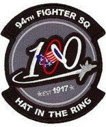 USAF 94th Fighter Squadron Patch Sticker Hat In The Ring 100 EST 1917 - $9.89
