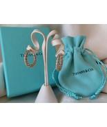 Tiffany & Co. 18k Gold & Sterling Silver Twist Hoop Earrings~Box & Pouch... - $265.00