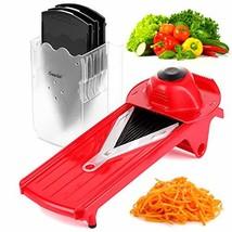 Geedel V-Pro Mandoline Slicer, Adjustable Food/Vegetable Slicer With (Red) - $40.54