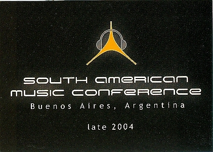 South American Music Conference Postcard