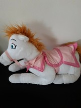 Disney Store Exclusive Princess Ponies Pink Saddle Princess White Plush Stuffed - $29.65