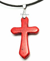 QC23 Quantum Cross Pendant Turquoise Red with FIR - New - $19.95