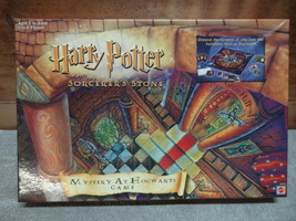 HARRY POTTER  MYSTERY AT HOGWARTS  BOARD GAME  USED N THE BOX GOOD SHAPE  - $19.99