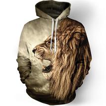 Fashion lion hooded shirts men printed 3d hoodies Casual graphic hoodie ... - $28.94+