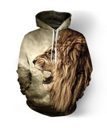 Fashion lion hooded shirts men printed 3d hoodies Casual graphic hoodie ... - $28.94+