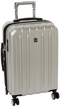 Delsey Luggage Helium Titanium Carry-On EXP Spinner Trolley, Silver, One... - $123.09