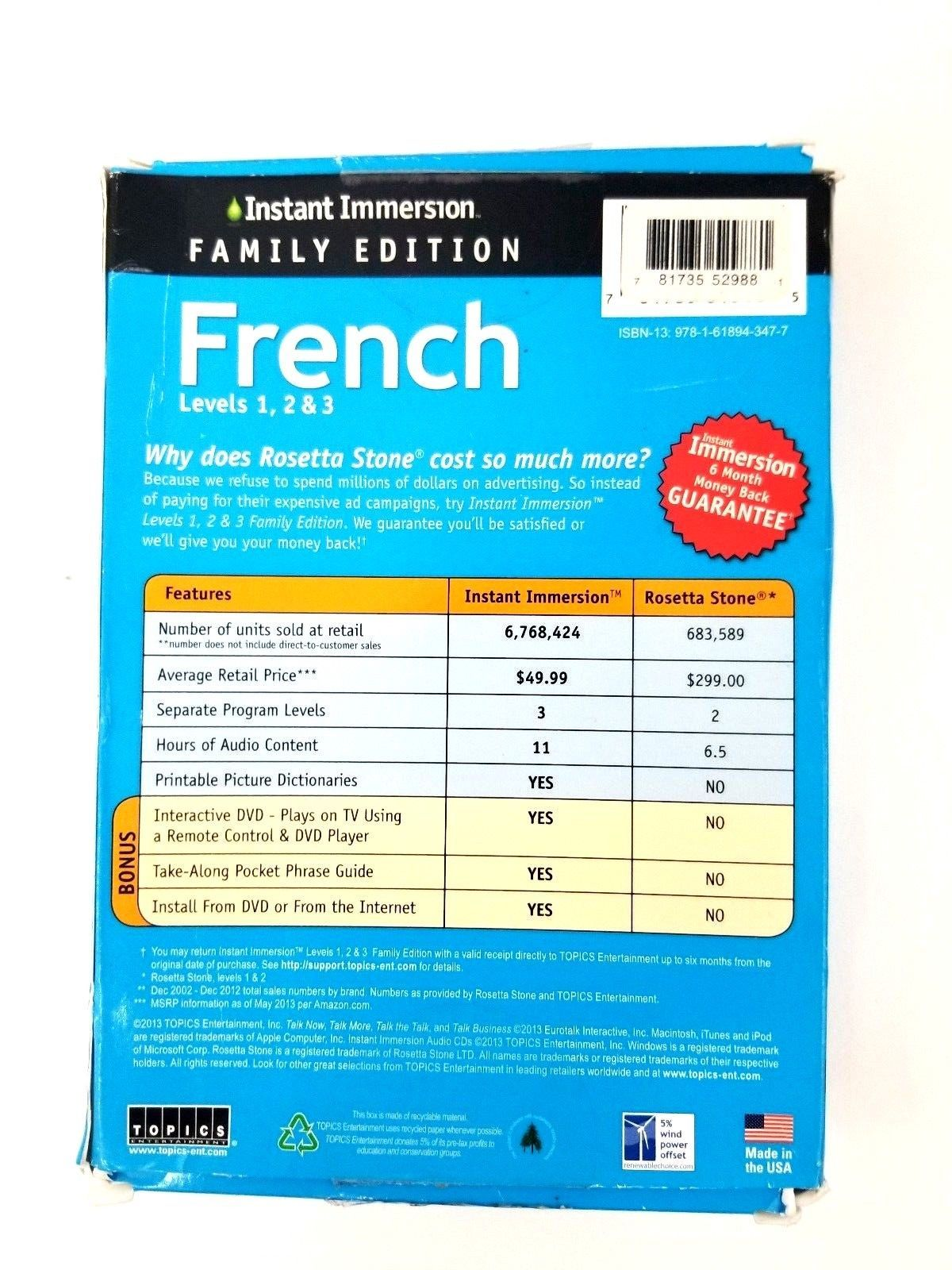 Instant Immersion Family Edition French Levels 1,2 & 3 PC & Mac Foreign Language image 2