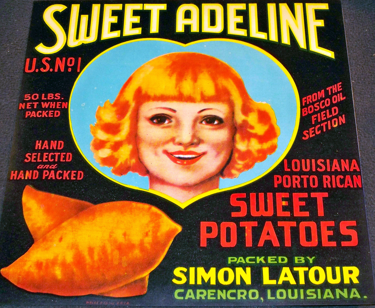 Heart! Sweet Adeline Crate Label, 1930's