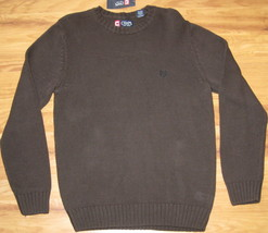 New Chaps Knit Sweater Cotton Brown 100% Cotton Large L Lrg Lg $69.50 Knitted - $28.04