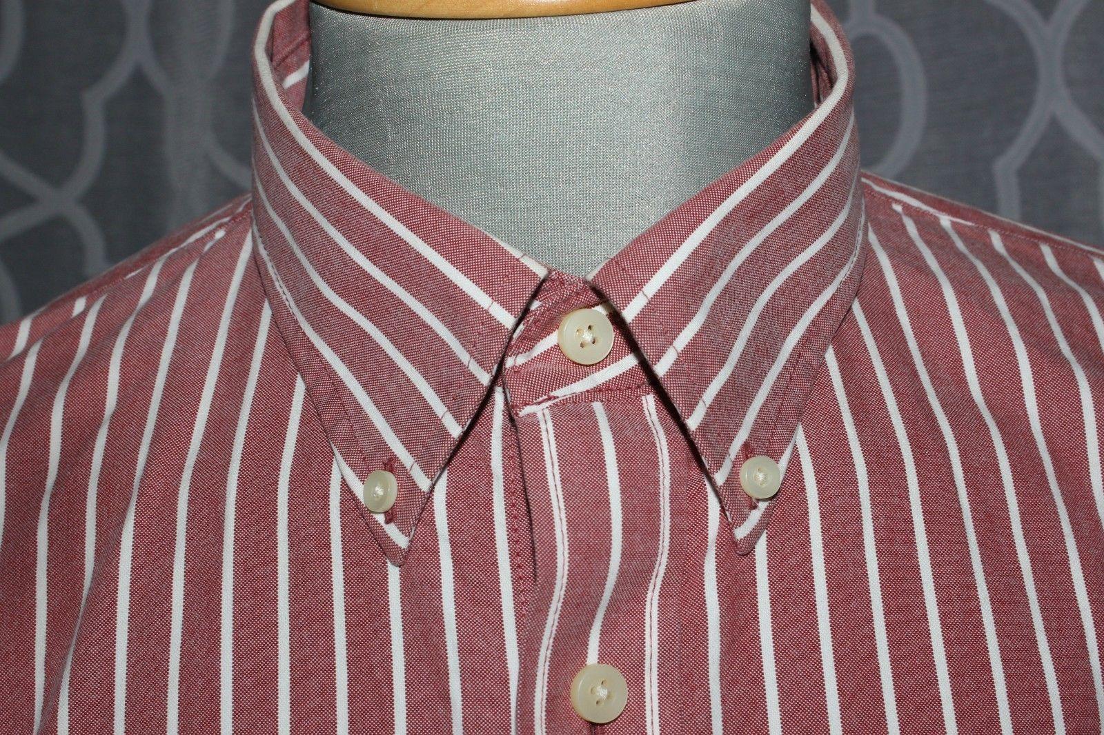 Abercrombie & Fitch Men's Muscle Long Sleeve Shirt Stripes Button Down Size XXL