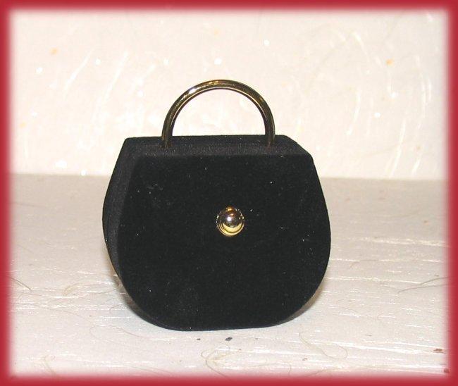 Ring box black purse front