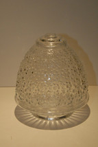 """VINTAGE c.1930 DECO STYLE ACORN CLEAR GLASS LIGHT SHADE 3 1/8"""" WIDE  HOB... - $19.99"""