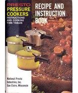 Presto Pressure Cooker Recipe & Instruction Book 1975 SC - $6.99
