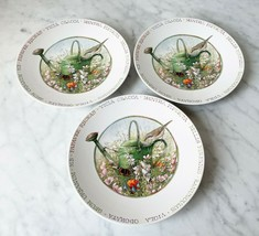 "Marjolein Bastin Wildflower Meadow 3 Salad Plates 8"" - Watering Can Butt... - $23.70"