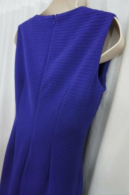 Anne Klein Dress Sz 4 Ultra Violet Purple Sleeveless Business Cocktail Party image 10