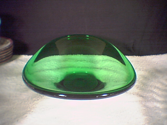 NICE GREEN SERVING BOWL