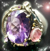 Haunted Ornate Ring Violet Star Divine Connections Secret Ooak Extreme Magick - $9,117.77
