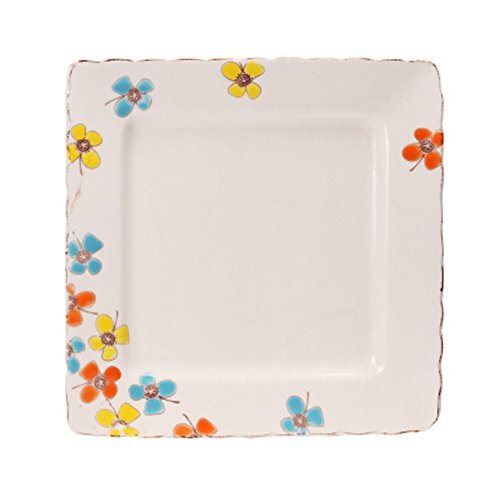 Primary image for Kylin Express Creative 10 Inches Ceramic Dinner/Fruit Plate Hand-Painted Square