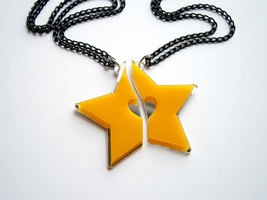 Kingdom Hearts Best Friends Necklaces, Paopu Fruit, Mirror/Yellow Plastic - $21.95